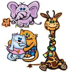 Cute animals vector on VectorStock®
