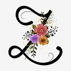 Alphabet Letter Z With Flowers And Leaves Vector Alphabet Letters Design, Flower Alphabet, Flower Letters, Alphabet Art, English Alphabets With Pictures, Alphabet Pictures, Leaves Vector, Vector Flowers, Watercolor Lettering