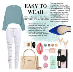 """""""Easy to wear"""" by rachmarellyani ❤ liked on Polyvore featuring Acne Studios, Paul Andrew, Aamaya by priyanka, Foley + Corinna, Kate Spade, Oliver Peoples, ban.do, Essie, Fiebiger and Giorgio Armani"""