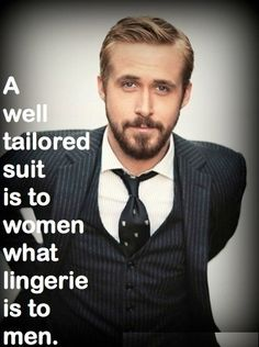 A well tailored suit