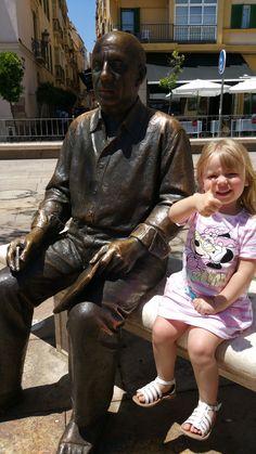Ma princesse avec Picasso à Malaga