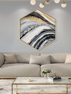 Resin Wall Art, Diy Resin Art, 3d Wall Art, Glass Wall Art, Wall Art Sets, Abstract Wall Art, Framed Wall Art, Stone Art Painting, Painting Frames