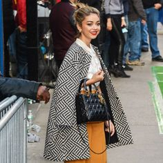 Nothing Basic About This! Sarah Hyland Steps Out in a Winning Trifecta of Street-Chic Looks  #InStyle