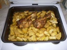 G & M - Χρώμα... Ελληνικό!    Κότσια λεμονάτα στο φούρνο