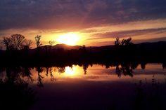 Sunset above slovak nature