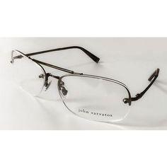 4e71c436d60 John Varvatos Half-Rim Eyeglasses Brown Frame V102 60 15 135 Aviator Japan