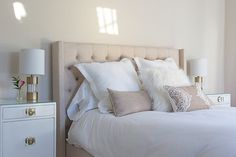 Beige Headboard, Bed, Furniture, Home Decor, Style, Swag, Stream Bed, Stylus, Interior Design
