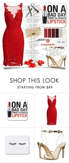 """On a bad day there is always lipstick"" by belmina-v ❤ liked on Polyvore featuring ML Monique Lhuillier, Garance Doré, GUESS and Loeffler Randall"