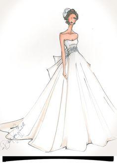 illustrate your wedding dress.