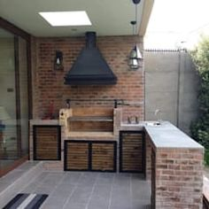 Construcción de quinchos balcones y terrazas modernos de n&v diseño y construcción moderno | homify Barbecue, Kitchen Island, Bathtub, Backyard, Exterior, Outdoor, Home Decor, Ideas, Environment