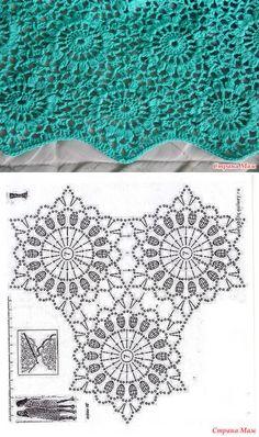 Crochet Snowflake Pattern, Crochet Motif Patterns, Crochet Diagram, Crochet Squares, Crochet Chart, Crochet Doilies, Crochet Flowers, Freeform Crochet, Thread Crochet