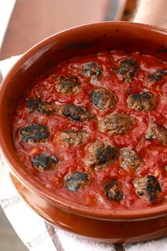 kofta in spicy tomato sauce