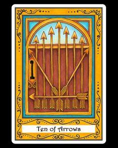 Ten of Arrows. Incidental Tarot.