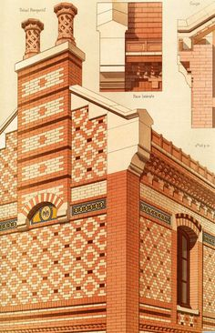 Interesting Find A Career In Architecture Ideas. Admirable Find A Career In Architecture Ideas. Brick Architecture, Victorian Architecture, Architecture Drawings, Classical Architecture, Historical Architecture, Architecture Details, Bg Design, Brick Design, Interior Design