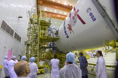 Europe's ExoMars orbiter, due to begin a seven-month journey to the red planet March 14, has met its Russian Proton rocket booster as launch preparations enter the final stages at the Baikonur Cosmodrome in Kazakhstan. Technicians from Khrunichev, the Proton's manufacturer, oversaw the connection of the ExoMars spacecraft and its Breeze M stage with the core of the Proton rocket Saturday.