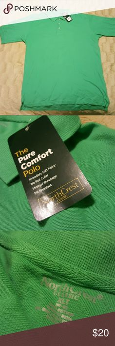🎉HP🎉 NWT XL tall NorthCrest Classic polo shirt This item is a Host Pick!  The Pure Comfort Polo Anti wrinkle collar  No trades Northcrest Shirts Polos