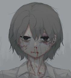 Sad Anime, Anime Love, Anime Guys, Anime Art, Dark Art Illustrations, Illustration Art, Desenhos Halloween, Sun Projects, Arte Obscura
