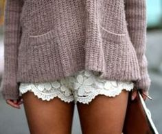love. im determined to find myself a pair of lace shorts this coming season. any ideas?