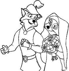 Robin Hood Printable Coloring Pages - Disney Kids Games ...