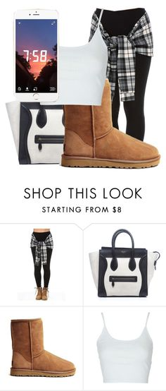 """""""Untitled #373"""" by sashajl03 ❤ liked on Polyvore featuring CÉLINE, UGG Australia and Topshop"""