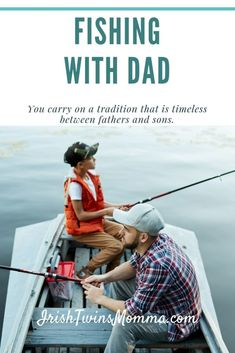 Fishing with Dad - Fishing with your father is a timeless tradition that can teach lifelong lessons and establish wonderful memories you will cherish. Parenting Toddlers, Parenting Advice, Father And Son, You Are The Father, Irish Twins, All Family, Best Memories, Making Memories, Twin Sisters