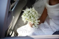 Romantic Bridal Posy Arranged With Lily Of The Valley + Small White Ranunculus~~ Small Wedding Bouquets, Bride Bouquets, Wedding Dresses, White Lilies, White Roses, Nosegay, White Ranunculus, Little White Dresses, Lily Of The Valley