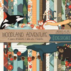 FREE Woodland Adventures kit by Elle Designs