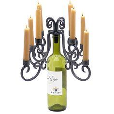 Montpellier 8-Candle Wine Bottle Candelabra