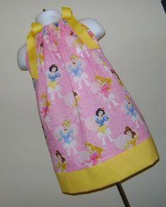 Custom Boutique Disney Princess Pillowcase Dress by SewInFashion, $20.00