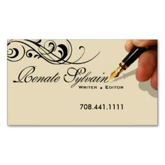 Writer Editor 1 Stylish Creative Business Cards profilecard