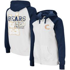 Chicago Bears Ladies Spectator Quilted Full Zip Jacket - White ...