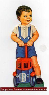 TOMMY Dunkelhaariger Puppenjunge Anziehpuppe ausgestanzt Reprint von 1920 Paperdoll