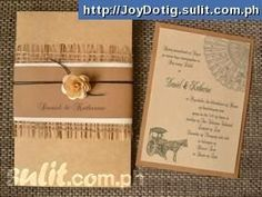 filipino wedding invitation Wedding Stuff by Angelica Banut