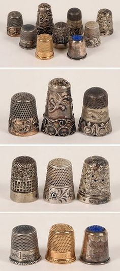 I love silver thimbles - great display.