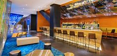 Book your stay at W Mexico City. Our Mexico City trendy hotel offers contemporary accommodations & lively experiences. Hotel Rooftop Bar, W Hotel, Living Room Bar, Living Room Designs, Diy Home, Home Decor, Contemporary Bar, México City, Hospitality Design