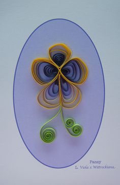 While I was making that quilled violet earlier in the week, it occurred to me that I could easily adapt the pattern to make a pansy flower -. Paper Quilling Flowers, Quilling Cards, Quilling Ideas, Fun Crafts To Do, Card Tags, Pansies, Beaded Embroidery, Art Forms, Sculpture Art