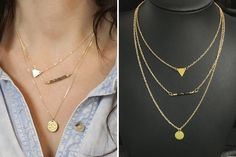 Multi Layered Triangle Necklace - Just $4.99! - http://www.pinchingyourpennies.com/multi-layered-triangle-necklace-just-4-99/ #Layerednecklace, #Pickyourplum, #Pinchingyourpennies