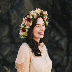 Flower Crowns for Your Wedding — Wedding Hairstyles with Floral Crowns : Brides.com