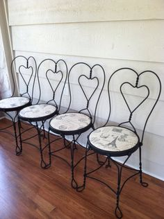 Vintage French Ice Cream Chairs  Vintage Chairs by LynorByJessica, $199.00