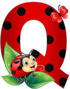 Alphabet Pictures, Clip Art Pictures, Cute Alphabet, Alphabet And Numbers, Cartoon Wallpaper, Iphone Wallpaper, Lady Bug, Ladybug Art, Disney Images