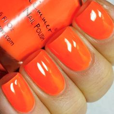 KBShimmer Please Don't Glow Girl Neon Orange Cream Nail Polish