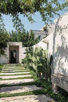 Modern Gardening Don Totu Puglia Exterior Design, Interior And Exterior, Interior Garden, Outdoor Spaces, Outdoor Living, Southern Italy, Garden Inspiration, Design Inspiration, Backyard Landscaping