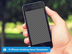 iPhone Holding Hand Templates