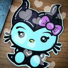 Here's Kitty Maleficent Sticker/decal.