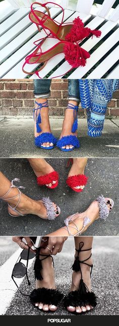 Every fashion blogger has a pair of these colorful fringe heels. Where's our pair?!