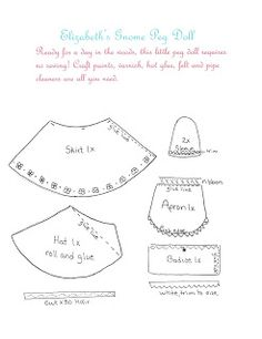 Creative Breathing: gnome peg doll pattern
