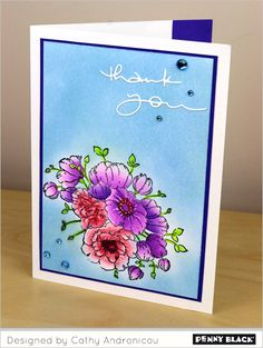 All stamps and dies by Penny Black: Download complete card supplies and instructions on our blog.