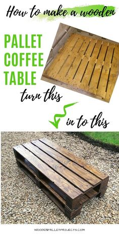 If you want to know how to make a wooden pallet coffee table for your living room then check this article out. Easy, one pallet project with step by step instructions that can be done in one afternoon. Click to learn more. Diy Projects Plans, Small Wood Projects, Cool Woodworking Projects, Diy Pallet Projects, Easy Diy Projects, Project Ideas, Wooden Pallet Coffee Table, Wooden Pallets, Pallet Tables