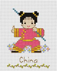 PINN Cross Stitch : International Costume - China Cross Stitch Kits on Mini Stitches category