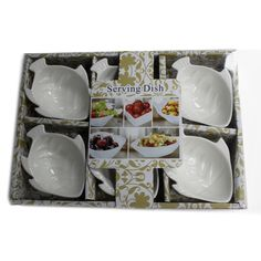 Side Plates Set of 6 Al Fresco Ceramic Appetizer Sweet Tapas Dishes Patio Garden Tapas Dishes, Kitchenware, Tableware, Fish Shapes, Dish Sets, Side Plates, Plate Sets, Serving Dishes, White Ceramics